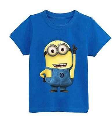 패션 소년 소녀 t 셔츠 만화 아이 옷 티 t-셔츠 반팔 탑 캐주얼 여름 의류 만화 소년 소녀 clohtes