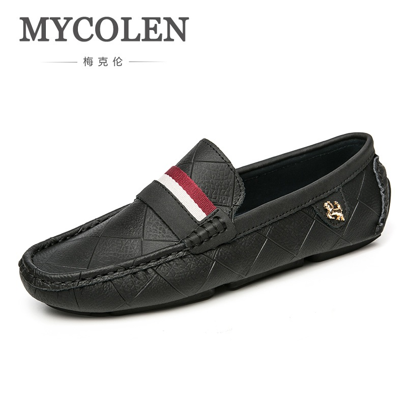 MYCOLEN New 2018 Spring/Autumn Slip On Men Casual Shoes Fashion Soft Men Shoes Male Comfortable Classic Flats Shoes SchoenenMYCOLEN New 2018 Spring/Autumn Slip On Men Casual Shoes Fashion Soft Men Shoes Male Comfortable Classic Flats Shoes Schoenen