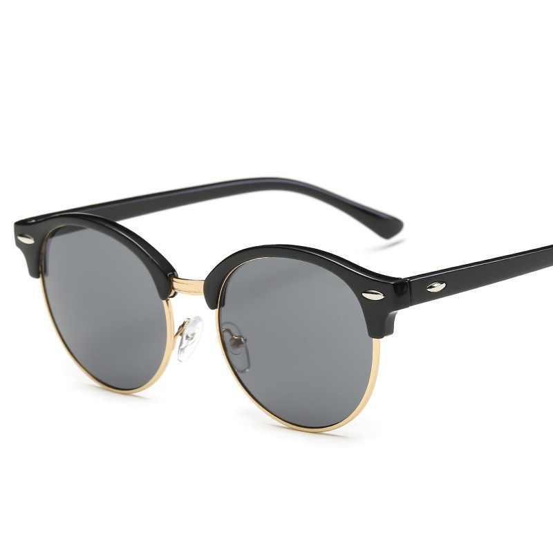 2020 güneş gözlüğü kadın popüler marka tasarımcısı Retro erkekler yaz tarzı güneş gözlüğü perçin çerçeve renkli kaplama tonları