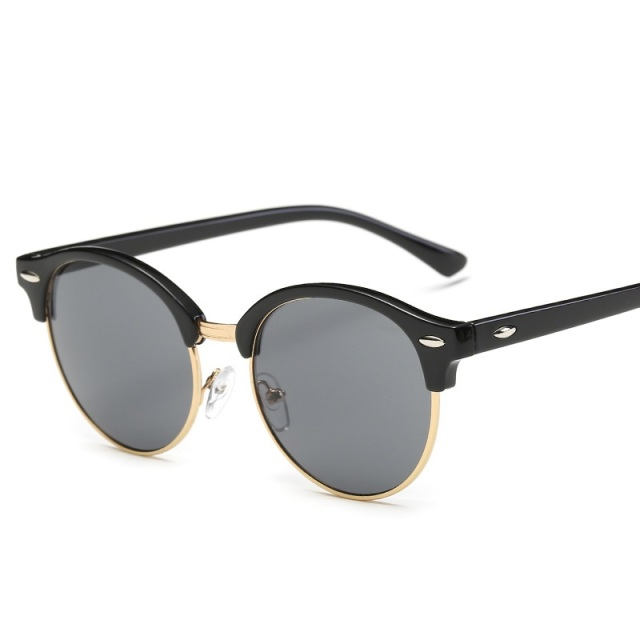 Rivet Frame Colorful Coating Shades Sun Glasses