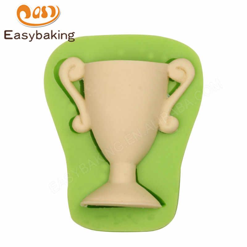 3D Champion Trophy Bentuk Silicone Cetakan Seni Chocolate Permen Alat Dekorasi Cetakan untuk Souvenir