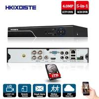 CCTV DVR 4ch H.264 AHD DVR NVR 4ch Digital Video Recorder for CCTV 4.0MP HDMI Video Output Support Analog AHD TVI CVI IP Camera