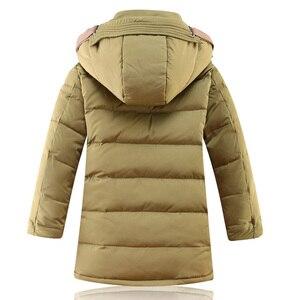 Image 4 -  30 תואר Down מרופדת ברווז מעילי החורף של ילדי בגדי ילדים 2017 בני עיבוי מעיל חם גדול הלבשה עליונה