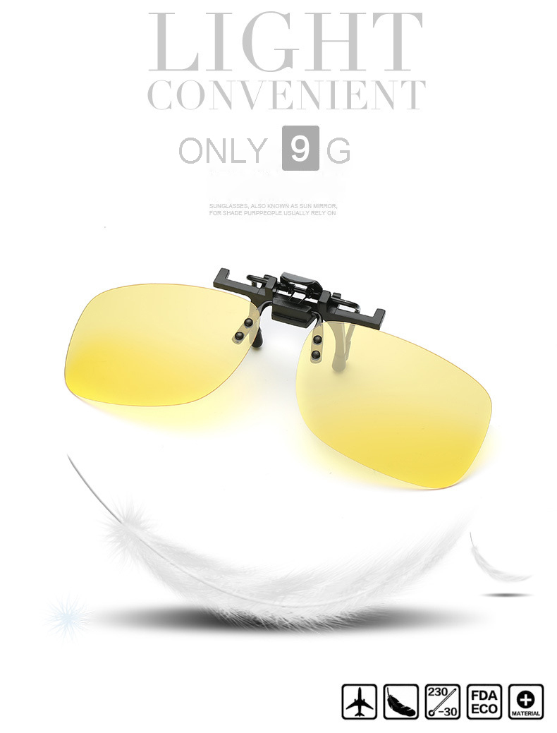 445ae4b0c3d 2018 Brand Vintage Fashion Polarized Clip On Sunglasses For Men Oculos  masculino Eyewear Male Night Vision Driving Sun Glasses