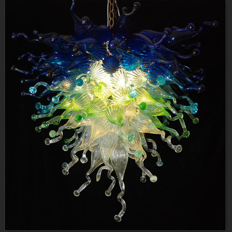 Rustic Blue and Green Murano Glass Chandelier Lightings Dale Chihuly Style потолочная люстра de markt грация 677010805