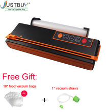 With Cutter Automatic 150W Vacuum Sealing Machine Vacuum Sealer Fresh Packaging Machine Food Saver Vacuum Packer with 1roll bag(China)