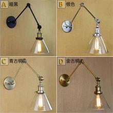 Стеклянный хромированный настенный светильник лампа с зеркальной