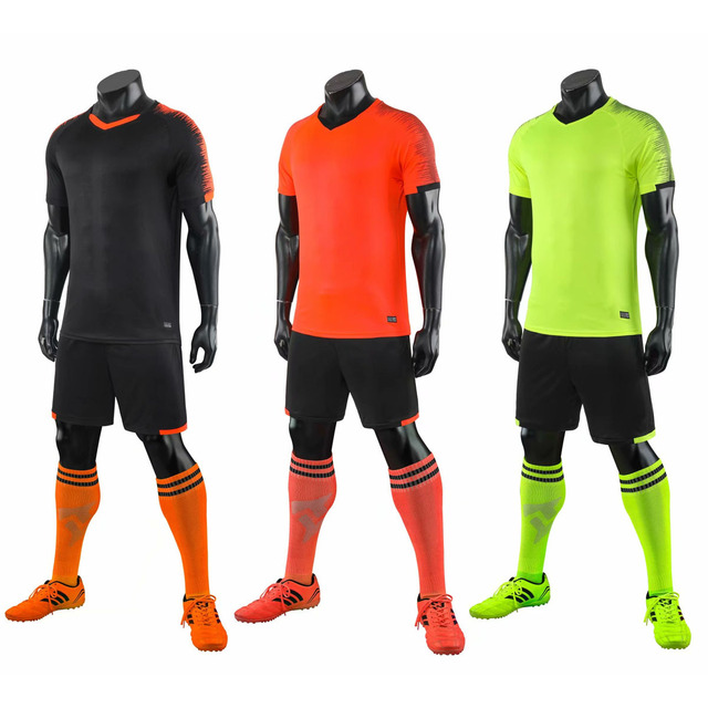 Kids Soccer Jerseys Sets Survetement Football Kits Adult Men Child Futbol Training Cheap Football Shirts Uniforms Sets Custom
