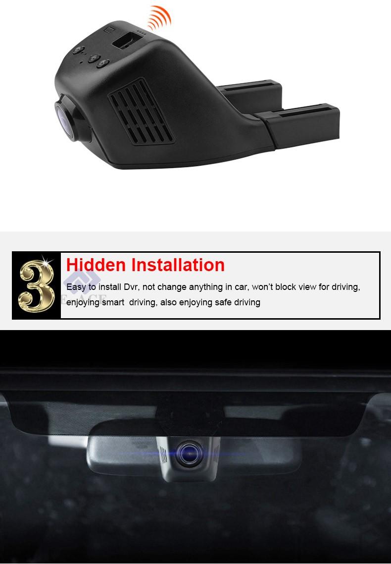 E-ACE Car Dvr WIFI DVRs Dual Camera Lens Registrator Dashcam Digital Video Recorder Camcorder Full HD 1080P 30FPS Night Version 8