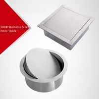 Premintehdw 304 Stainless Steel Built In Recessed Counter Top Waste Bin Flap Swing Cover Lid Kitchen