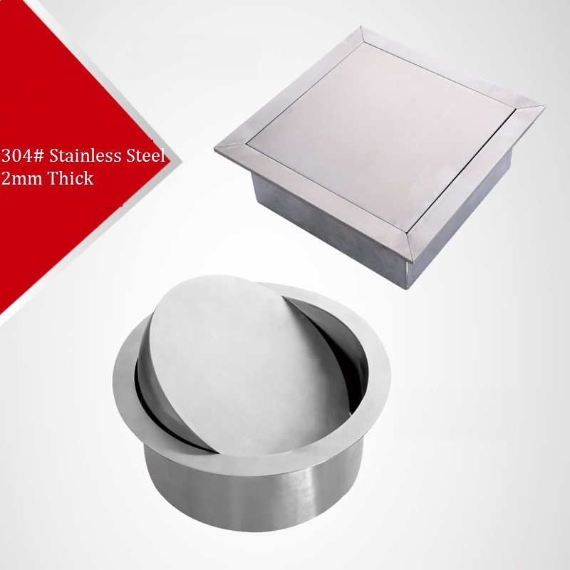 Premintehdw 304 stainless steel Built-in Recessed Counter top waste bin flap Swing cover Lid Kitchen Hotel premintehdw bed bracket flap hinge hydraulic lift up