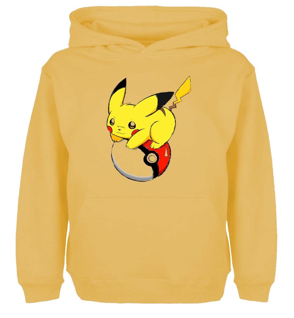 Cute Cartoon Pokemon Pikachu Pokeball Design Newest Hoodie Mens Womens Sweatshirt Tops