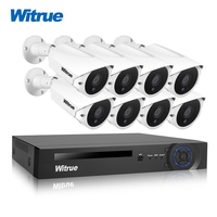 Witrue 8CH Surveillance System 1080P AHD DVR 8pcs 2 0MP Sony IMX323 Surveillance Camera Infrared Outdoor