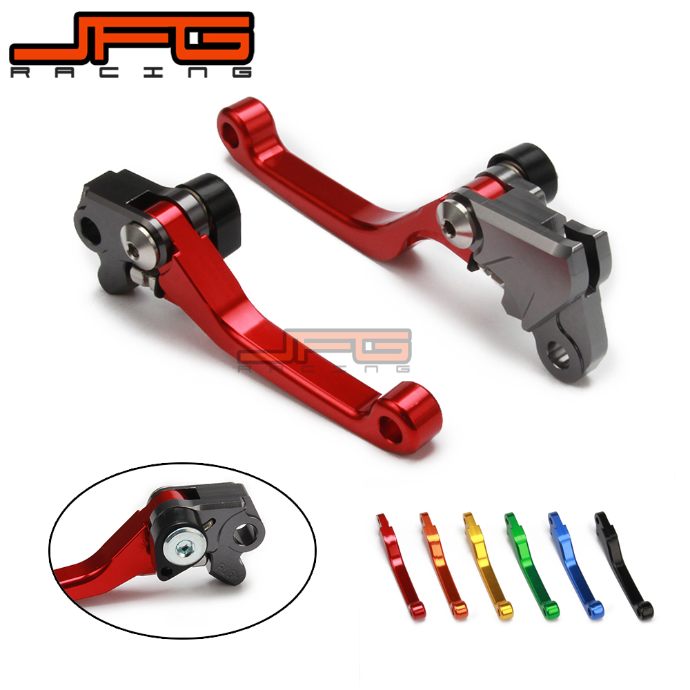 JFG CNC Billet Pivot Foldable Brake Clutch Levers For Honda CRF 230F CRF230F 2003 2004 2005 2006 2007 2008 2009 Motorcycle for honda crf 250r 450r 2004 2006 crf 250x 450x 2004 2015 red motorcycle dirt bike off road cnc pivot brake clutch lever
