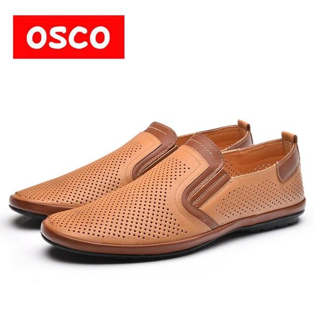 Оско фабрики всесезонные Новая мужская обувь модные Для мужчин Повседневная дышащая обувь Для мужчин сделано кожаные туфли #995301