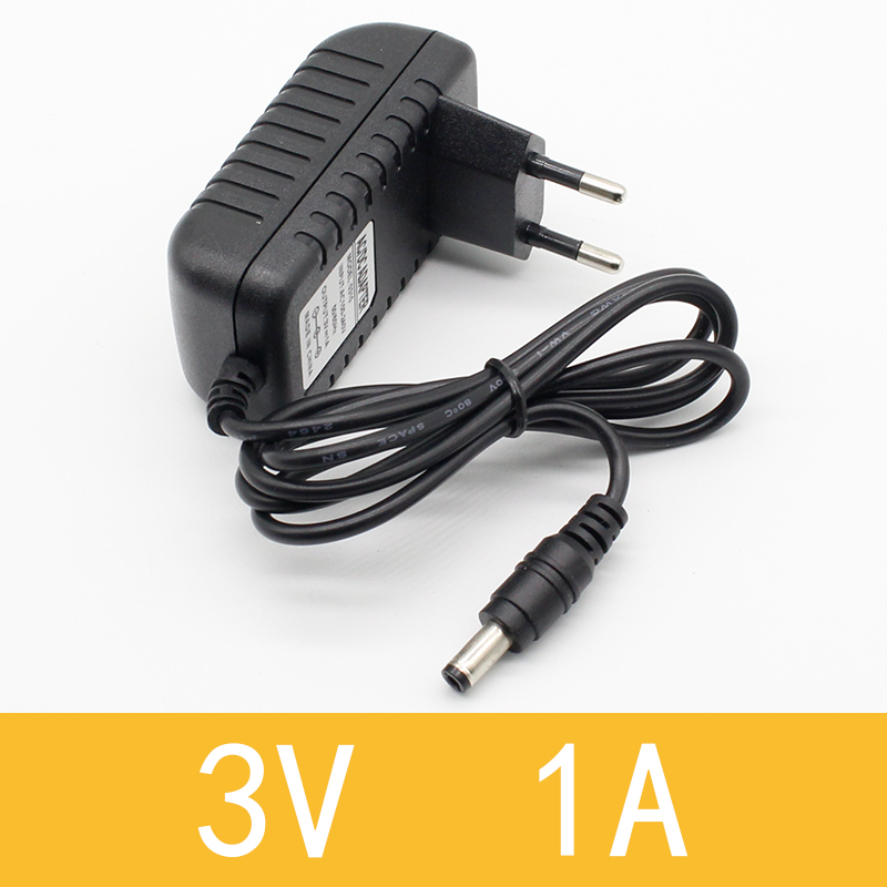 1pcs New AC Converter Adapter DC 3V 1A Power Supply Charger EU Plug 5.5mm x 2.1mm ...