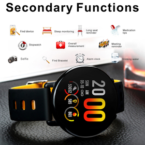 Image 5 - K1 الذكية الفرقة IP68 مقاوم للماء معدل ضربات القلب ضغط الدم رصد IPS كامل شاشة تعمل باللمس Smartwatch ل أندرويد IOS سوار