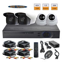 Security CCTV 4CH 720P AHD Camera DVR System 1 0MP Indoor Outdoor Surveillance Kit