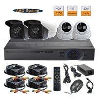 Security CCTV 4CH 720P AHD Camera DVR System 1 0MP Indoor Outdoor Surveillance Kit
