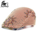 New Summer outdoor Sports Cotton Berets Caps For Women Casual Peaked Caps Doule layer flower Mesh Berets Hats Cap Y012