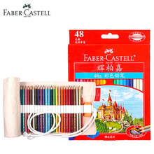 Faber Castell 48 Vibrant Colors Art Drawing Colored Pencils Set for Professional Adult Coloring Books Sketching