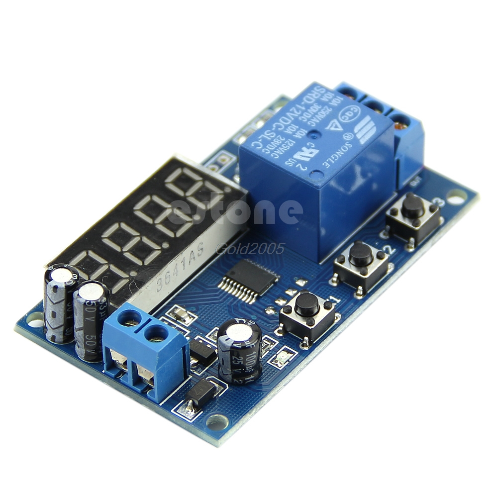 12V Digital LED Automation Delay Timer Control Switch Relay Module Display New G08 Drop ship