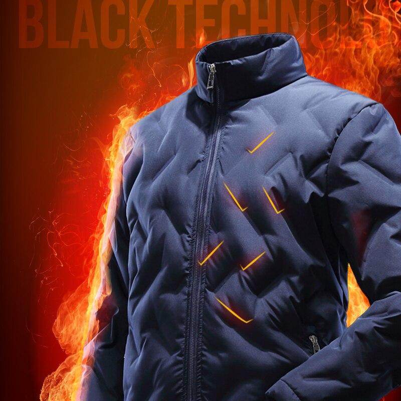 Beverry 90% белая куртка-пуховик для мужчин Slim Fit Зимняя теплая парка мужской Сверхлегкий пуховик и пальто