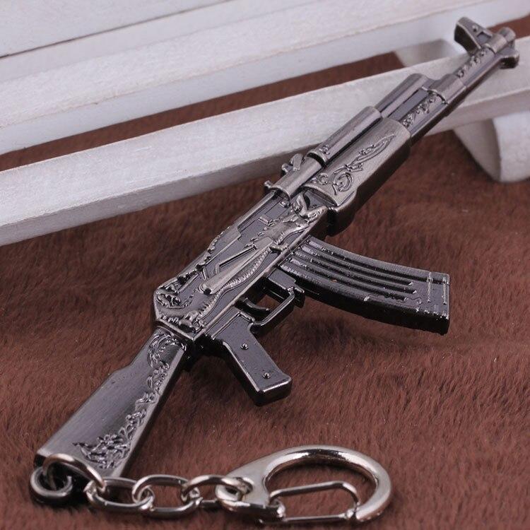 15 Styles CSGO AK47 AWP Eagle Weapons Metal Keychains Tritium Keyring For Key Holders Chaveiros Porta Porte Clef CS GO Gun Key