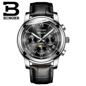 Image 2 - שוויץ אוטומטי מכאני שעון גברים Binger יוקרה מותג Mens שעונים ספיר שעון עמיד למים relogio masculino B1178 12