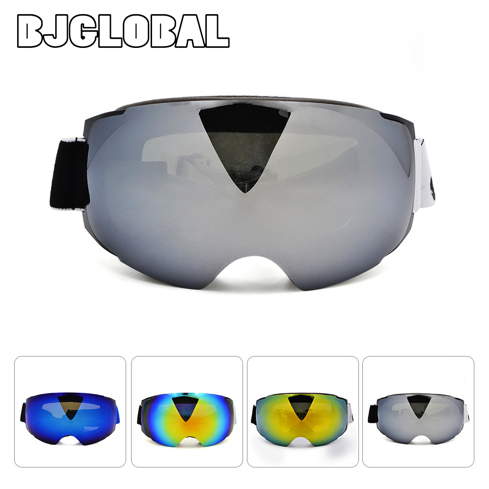 BJGLOBAL Motorcycle Flexible Skiing Snowboard Snowmobile Goggles Magnet Fast Lens Changing System Moto Glass Motocross Goggle