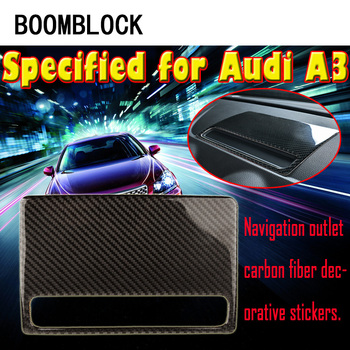 BOOMBLOCK For Audi A3 8V 8p 8l 2012-2017 Carbon Fiber Dashboard Navigation Decorative GPS Trim Stickers Car-styling Accessories image