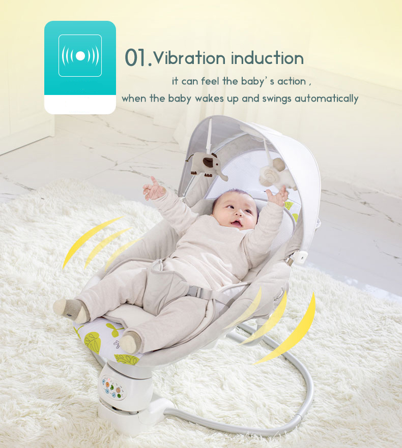 HTB16NsHbCCWBuNjy0Fhq6z6EVXaT Baby rocking chair child electric cradle baby crib recliner chair with  shaking sound baby artifact sleepy bed newborn bed