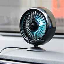 USB All-Round Adjustable Car Auto Air Cooling 7 Color LED Light  Fan Low Noise  Auto Cooler Air Fan Car Fan Accessories mute leafless air conditioning fan universal car electric fan adjustable vehicle turbofan car cooler for baby low noise