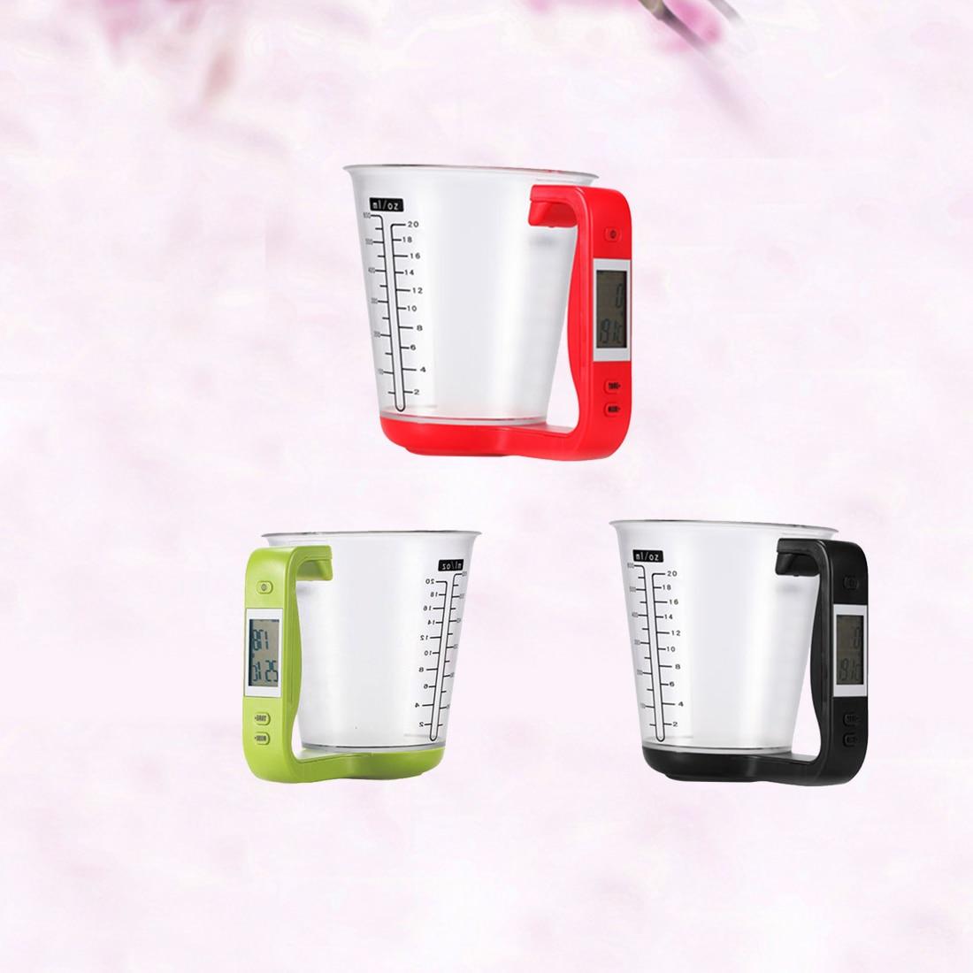 1 stücke Digital küche Elektronische Messbecher Skala Haushalt Krug Waagen mit LCD Display Temp Messung 16x12,5x13,5 cm