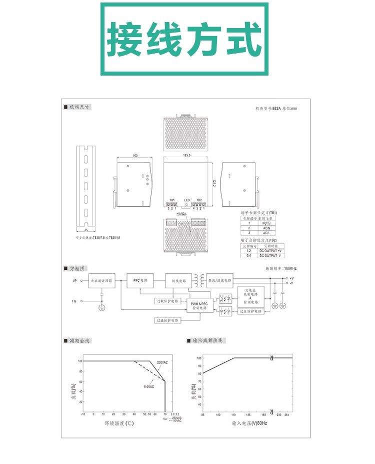10A Din rail simple sortie alimentation à découpage ac dc convertisseur SMPS DR-240-24 240 W 24 V - 5