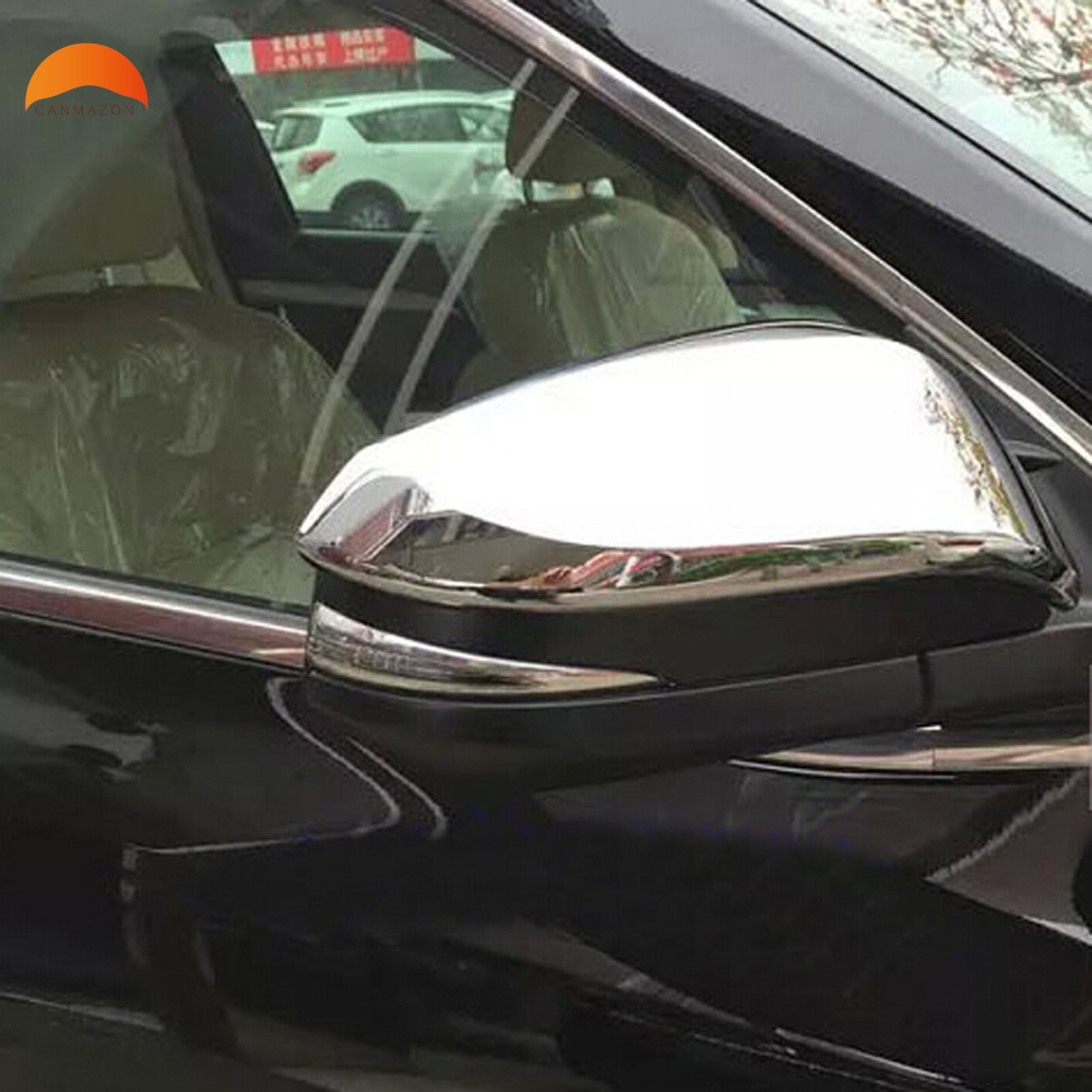 For Toyota Highlander 2015 New Chrome Side Door Mirror Cover Trim Protection Rearview Mirrors Covers 2pcs