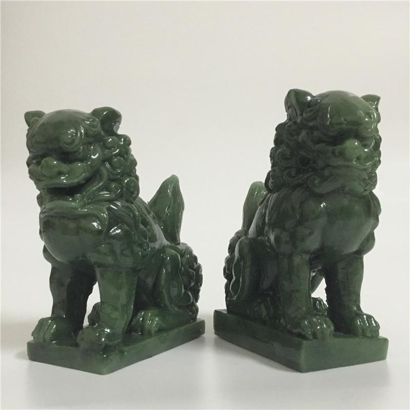 Chinese Guardian Lion Foo Female Dog Figure Statue Garden Sculptures Home Decor
