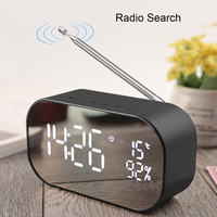 UPS2 Tabletop FM Radio receiver with Display USB Multifunction Double Bluetooth Speaker Alarm clock Support Aux IN / TF card