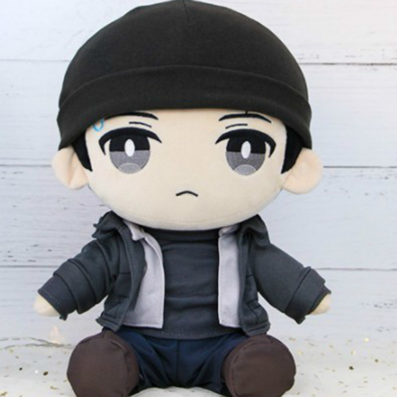 Detroit Become Human Connor Uniform Rk 800 Plush Stuffed Soft Toys Popular Game Plush Toy For Girls Christmas Gifts Sitting 30cm