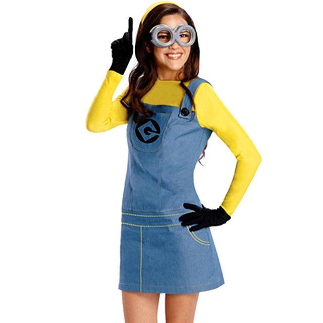Minion Adult Costume Minion Costume Women Minions Men Jumpsuits +glasses+black gloves+hat Minion Costume  sc 1 st  Aliexpress & Online Shop Minion Adult Costume Minion Costume Women Minions Men ...