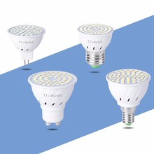 GU10 Светодиодная лампа 220V E27 светодиодная кукурузная лампа MR16 Точечный светильник E14 Свеча 48 60 80 светодиодов Bombillas B22 Точечный светильник 4 Вт 6 Вт 8 Вт 230 В лампада