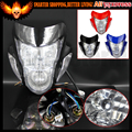 12V 18W Universal Streetfighter Enduro Supermoto Headlight For Kawasaki Ninja ZX6R ZX ZXR Z GSX ZXR BANDIT CBF HORNET ER5 CBR
