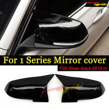 F20 Rear View Mirror Covers ABS Gloss Black BMW 1-Serie 116d 118i 120i 125i 128i 135i Cover Decoration 12+