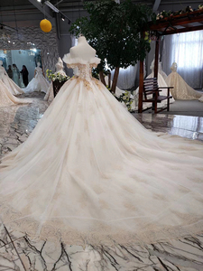 Image 2 - HTL323 Special sexy Wedding Dress with train off shoulder boat neck bridal dress gown free shipping mariage champetre