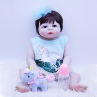 2019 classic Doll Bebes Reborn vinyl skin Reborn Baby Doll Toys For Children 22 Inch Baby Alive silicoen early education doll
