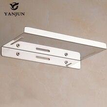 Yanjun Stainless Steel Upgrade Shelf Bar Bathroom Accessories Shelf Support Screws Wall Shelf Living Room YJ-8829