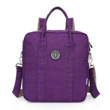 Женщины рюкзак водонепроницаемый нейлон рюкзак 10 видов цветов женские рюкзаки Женский Повседневная сумка Mochila Feminina корейский стиль