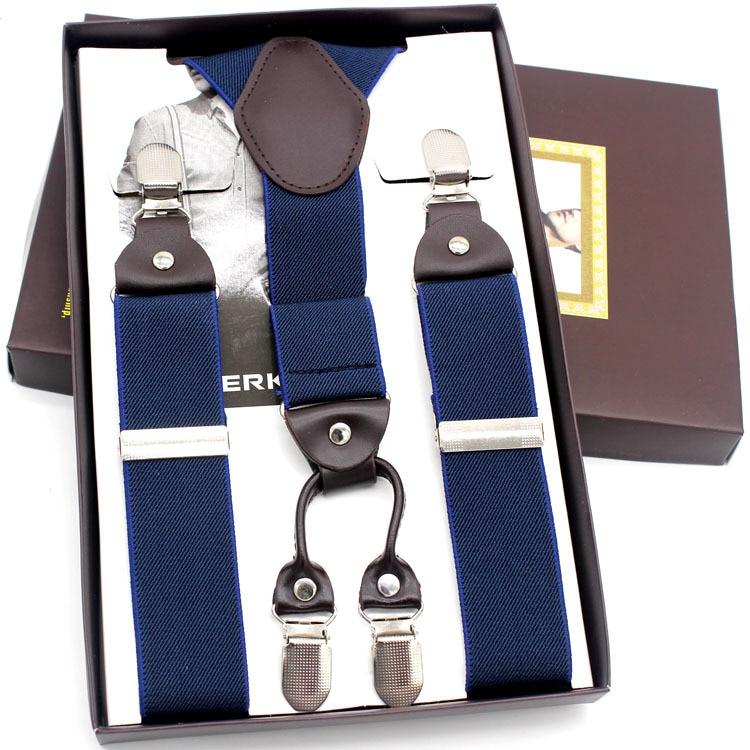 2015 new man suspenders fashion braces Adjustable 4 Clip-on suspenders braces Mens Gift Bridegroom/Wedding apparel accessories