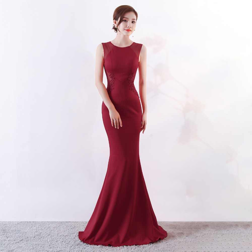 ... long evening dresses CX SHINE Lace flowers beading sexy mermaid trumpet  long prom party dress elasticity ... 95f91c13e49b
