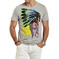 Новый fashionPuls XXXL мужские футболки 3D печати Мужчины Футболка повседневная топы тис Camisetas Хип-Хоп Американских Индейцев Swag футболки